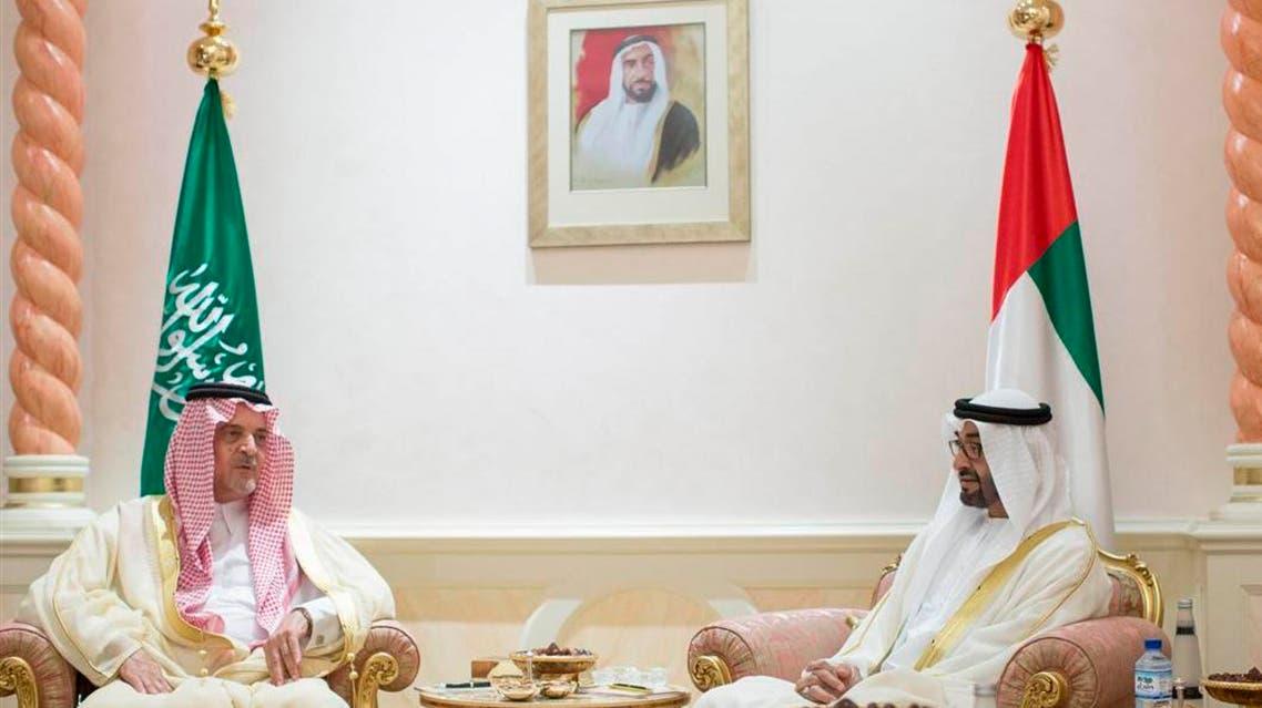 الشيخ محمد بن زايد مستقبلاً الفيصل