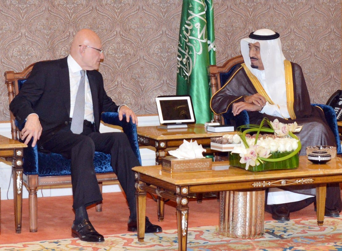Tammam Salam Sauid Crown Prince Lebanon AFP