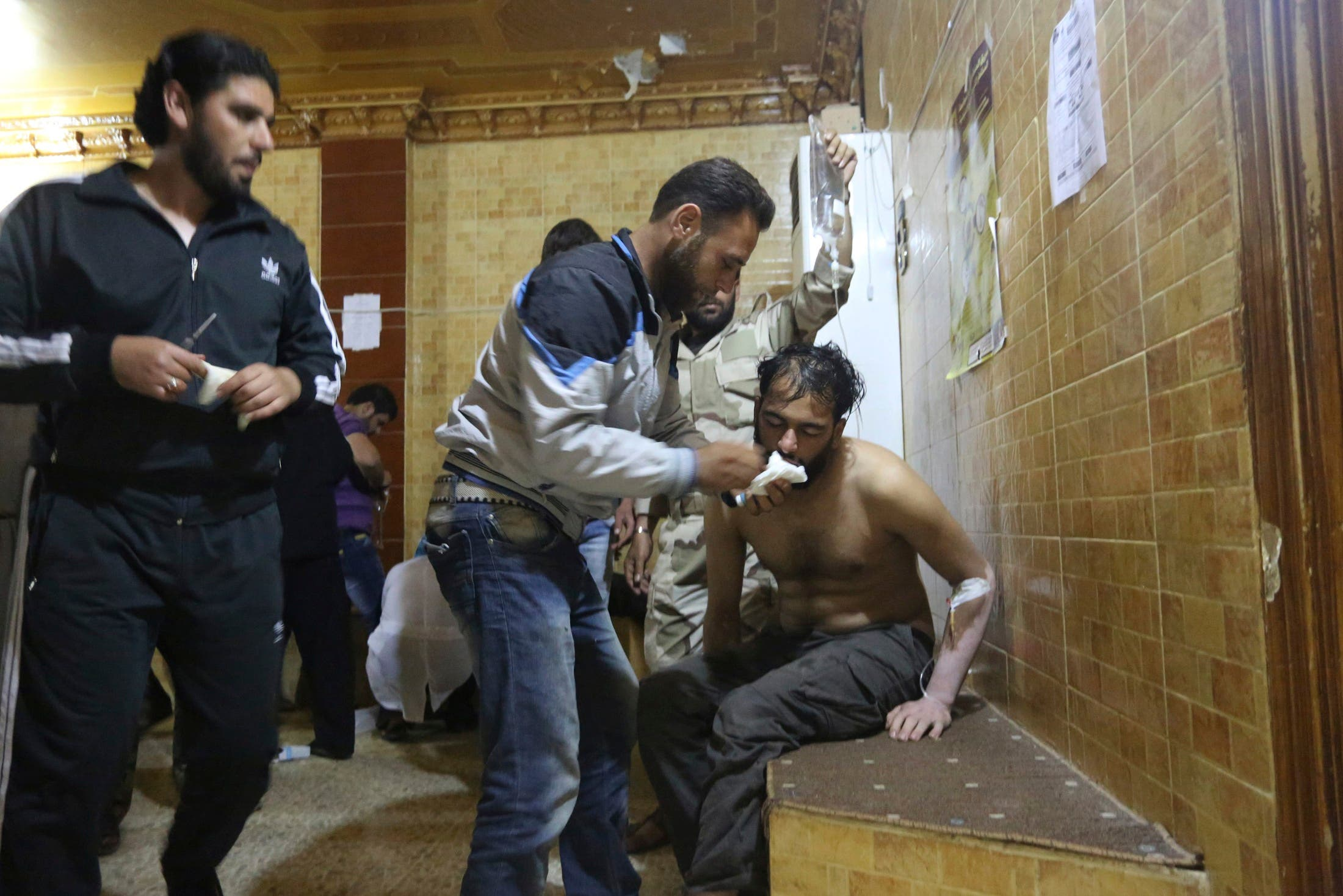 من غازات سامة في سوريا كيمياوي