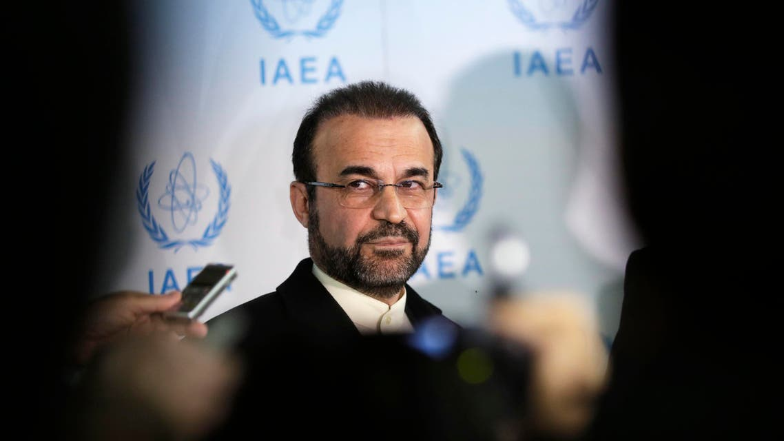 Iran's ambassador to the International Atomic Energy Agency (IAEA) Reza Najafi attends a news conference at the headquarters of the IAEA in Vienna Dec. 11, 2013. (Reuters)