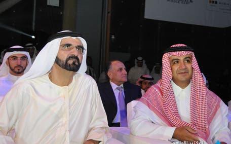Sheikh Waleed (R) with Dubai ruler Sheikh Mohammed