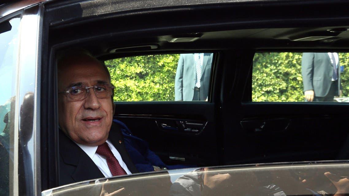 Michel Sleiman AFP leaving presidential palace