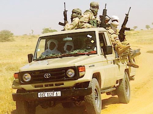 Chadian forces in a Toyota pick-up truck. The final stage of the confl ict was known as the Toyota War.
