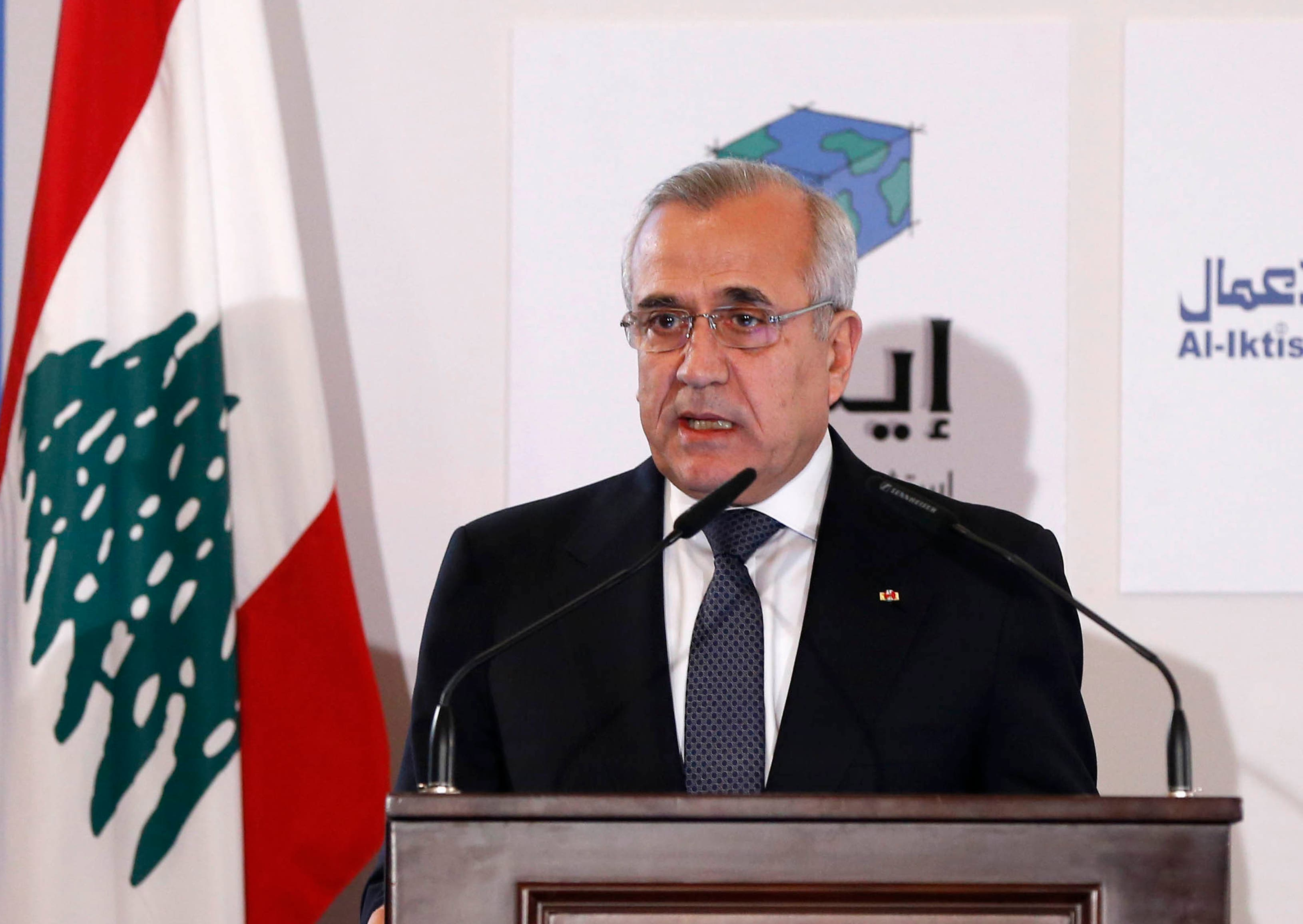 Lebanon's President Michel Suleiman speaks during the third Lebanon Economic Forum in Beirut March 8, 2014. (File photo: Reuters)