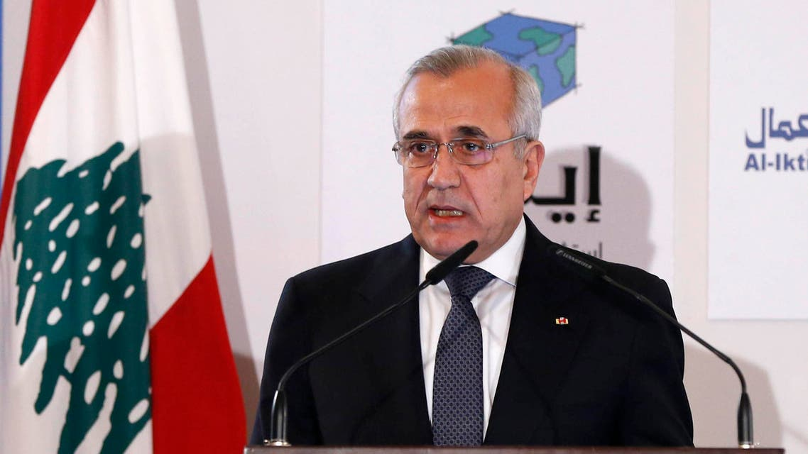 Lebanon's President Michel Suleiman speaks during the third Lebanon Economic Forum in Beirut March 8, 2014. (File photo Reuters)