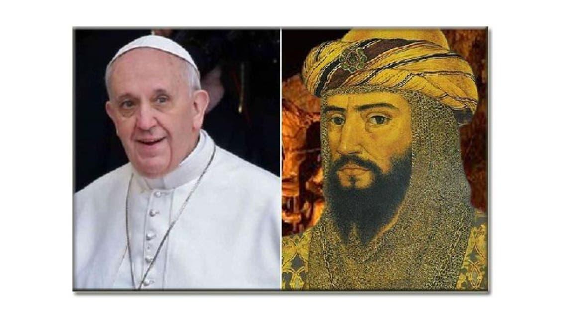 صلاح الدين والبابا فرنسيس الأول.. لقاء بعد 8 قرون