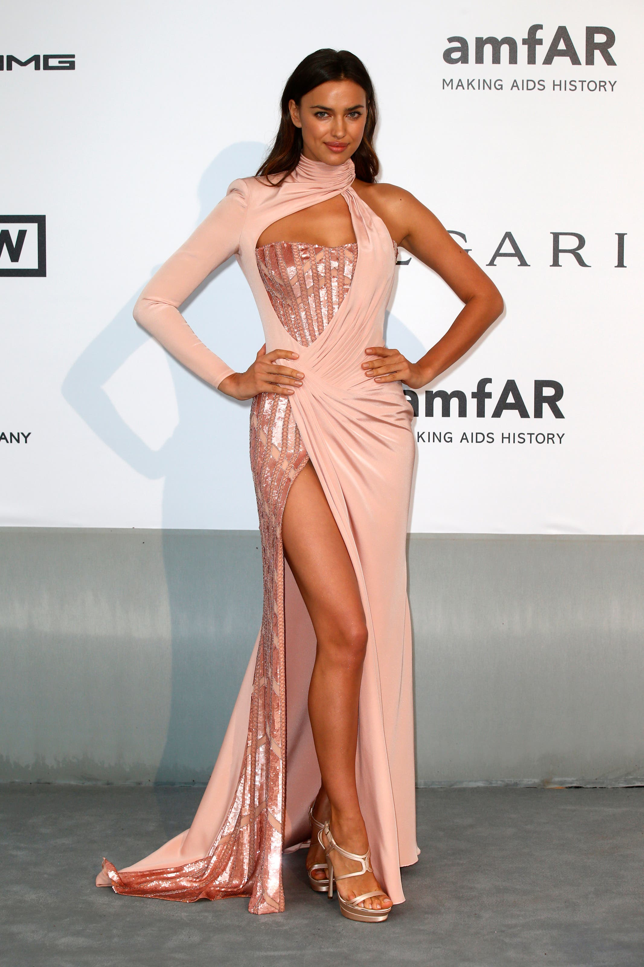 Model Irina Shayk arrives for amfAR's Cinema Against AIDS 2014 event in Antibes during the 67th Cannes Film Festival May 22, 2014. (Reuters)