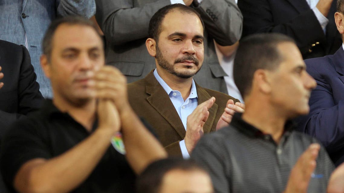 Jordan's Prince Ali bin Al-Hussein (C) attends Jordan's 2014 World Cup qualifying soccer match against Uzbekistan at King Abdullah stadium in Amman September 6, 2013. (Reuters)