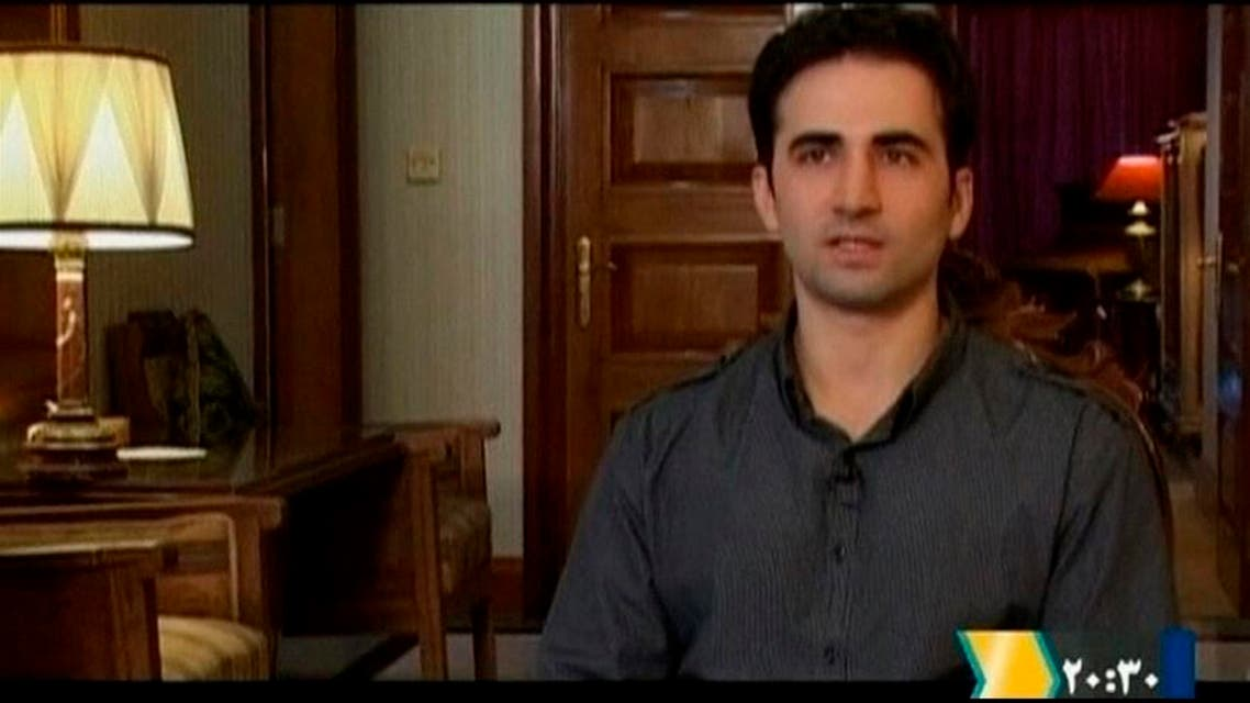 Iranian-American Amir Mirza Hekmati, who has been sentenced to death by Iran's Revolutionary Court on the charge of spying for the CIA, speaks during a recorded interview in an undisclosed location, reuters