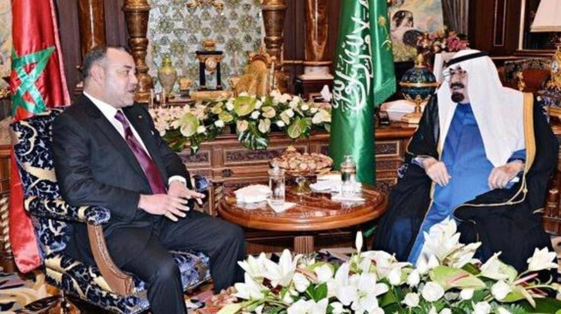 Saudi king and Morocco king