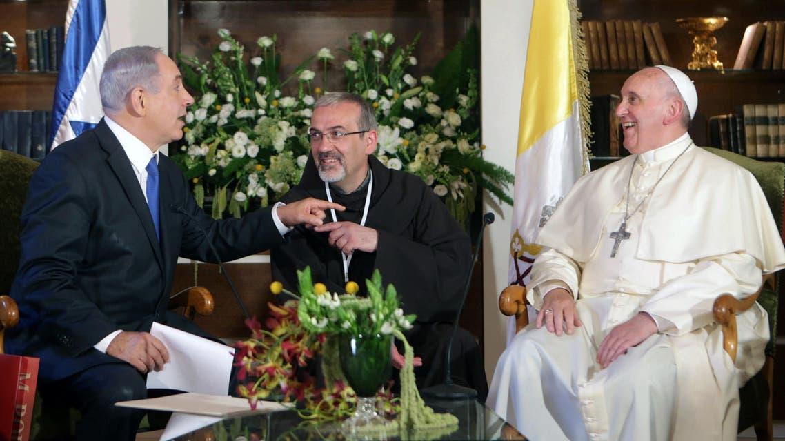 Pope Netanyahu AFP