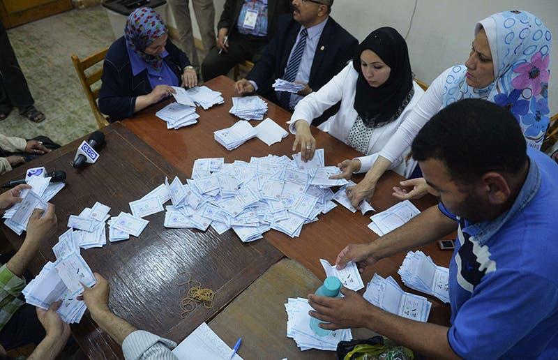 فرز الاصوات خلال الانتخابات الرئاسية السابقة