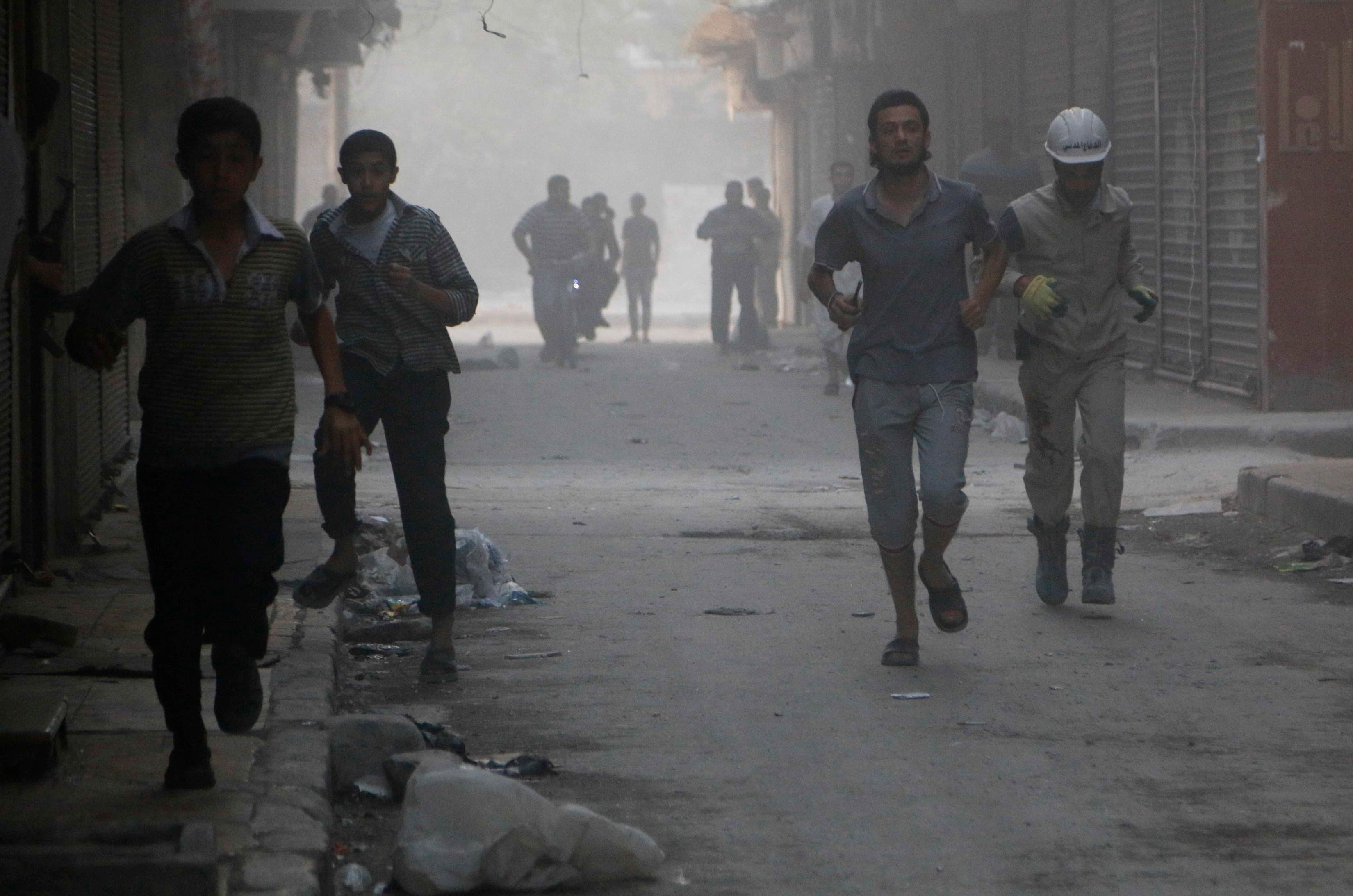 Aleppo: the aftermath of an airstrike