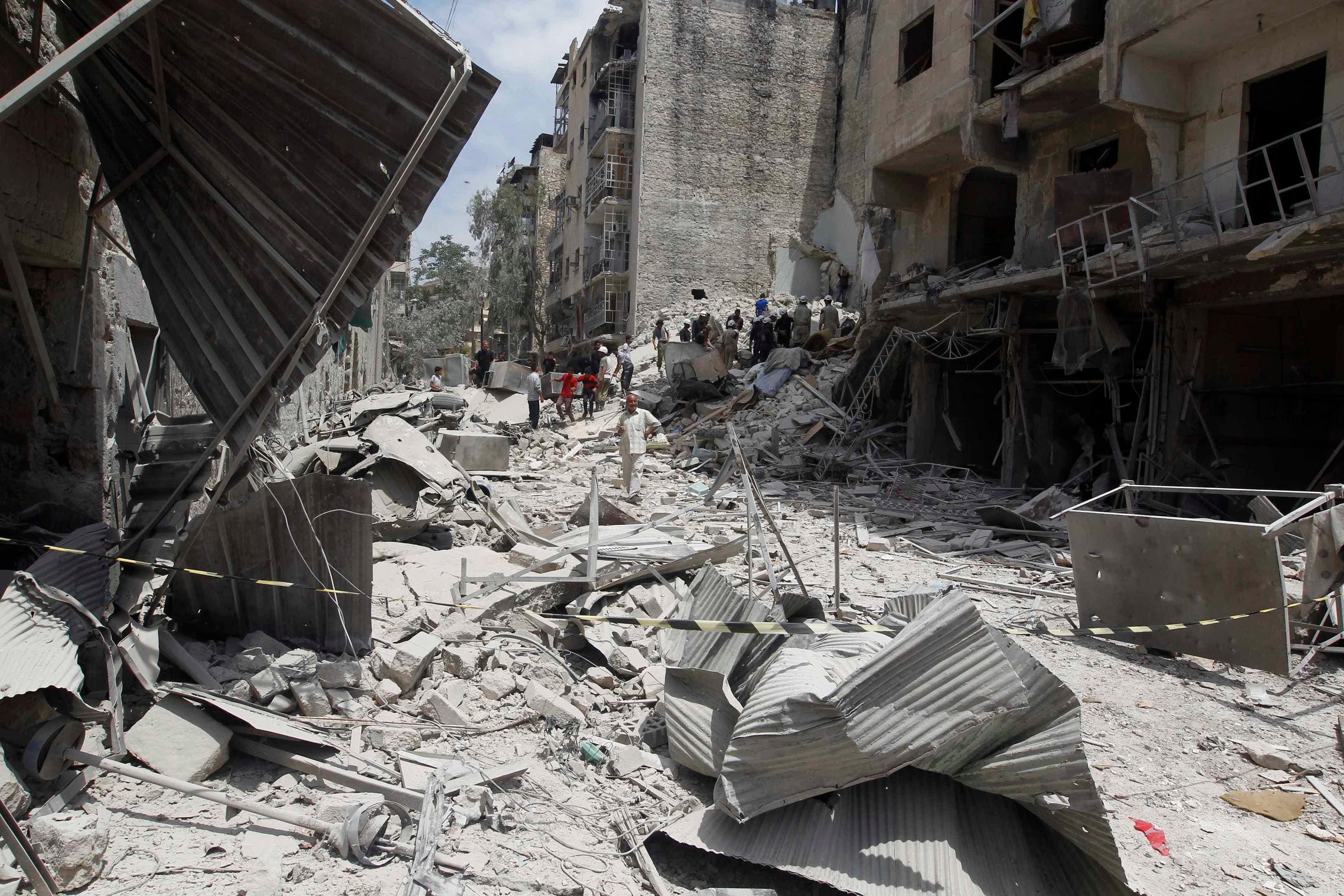انفجارات  في حلب