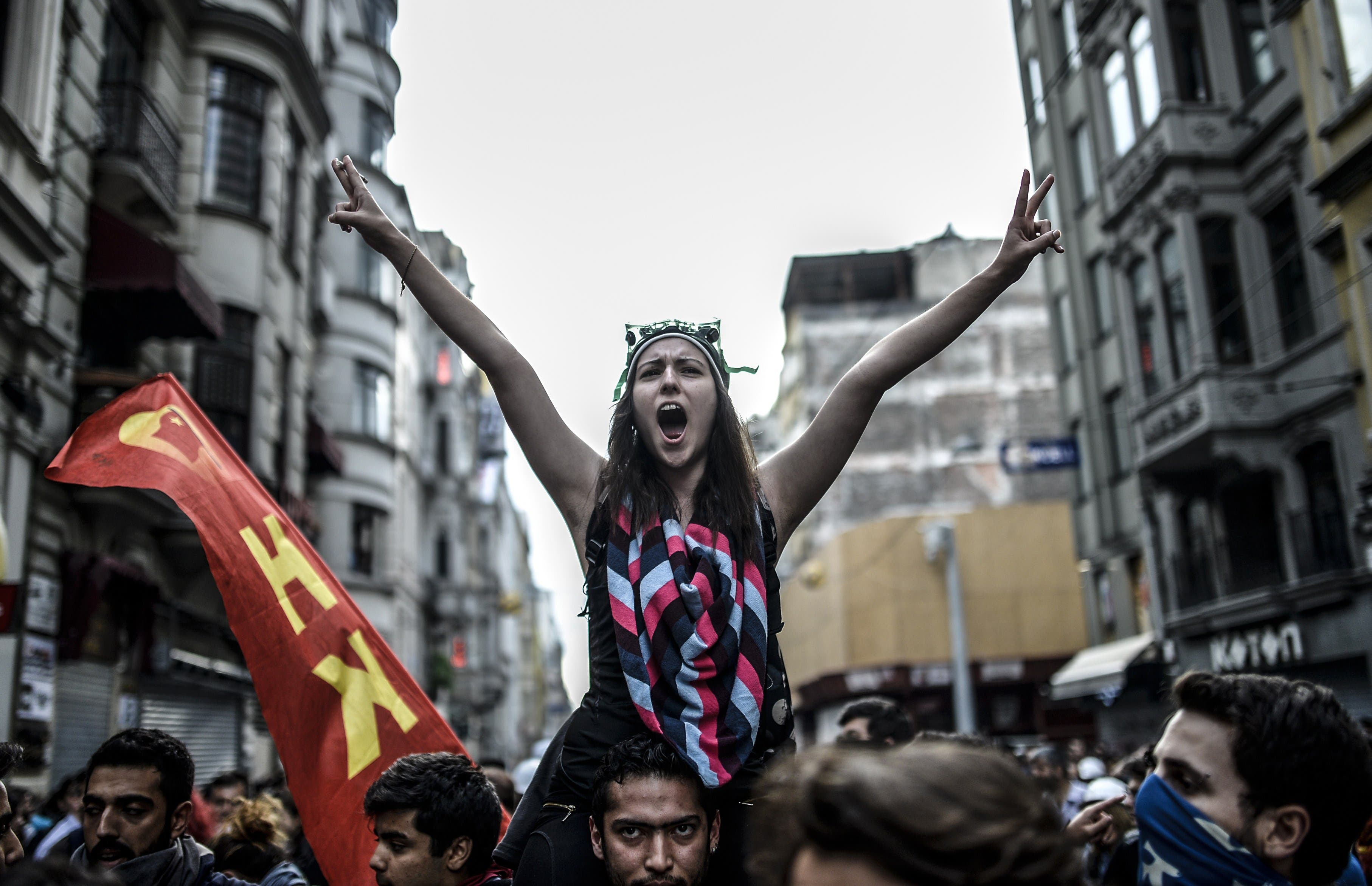 Anniversary protests in Istanbul