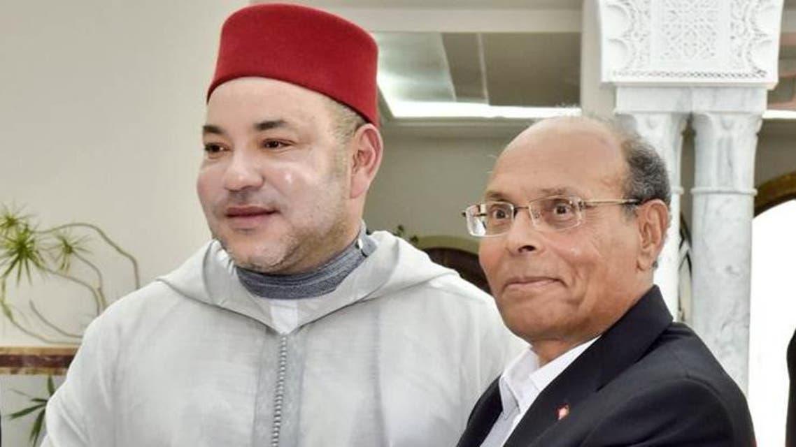 زيارة ملك المغرب محمد السادس إلى تونس مع منصف المرزوقي