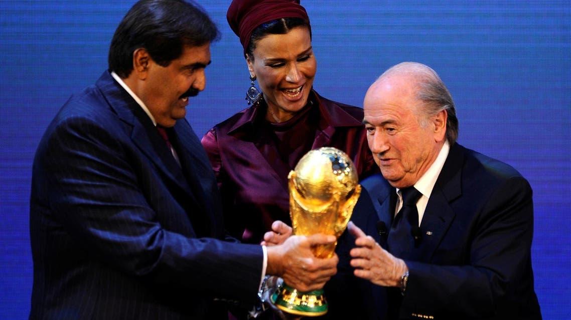 Qatar Emir Sheikha Moza Set Blatter eurosport