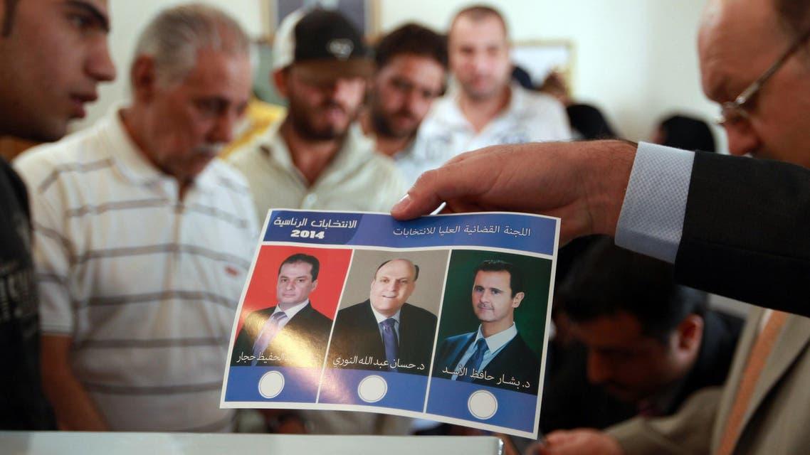 ballot card syria afp