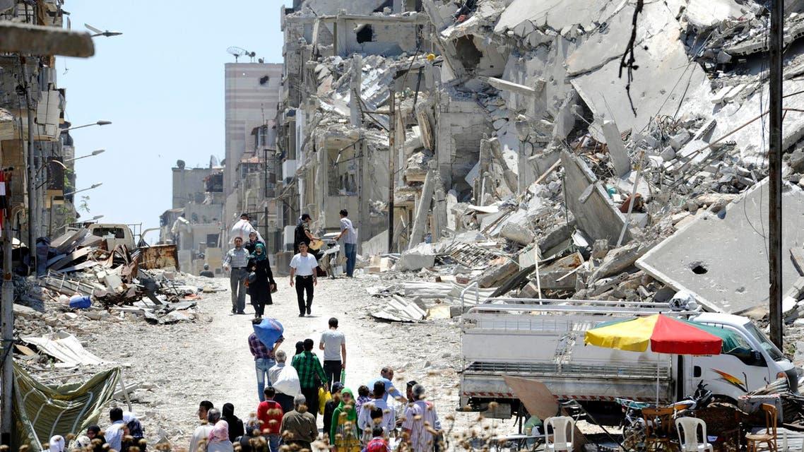 جانب من الدمار اليومي في حمص