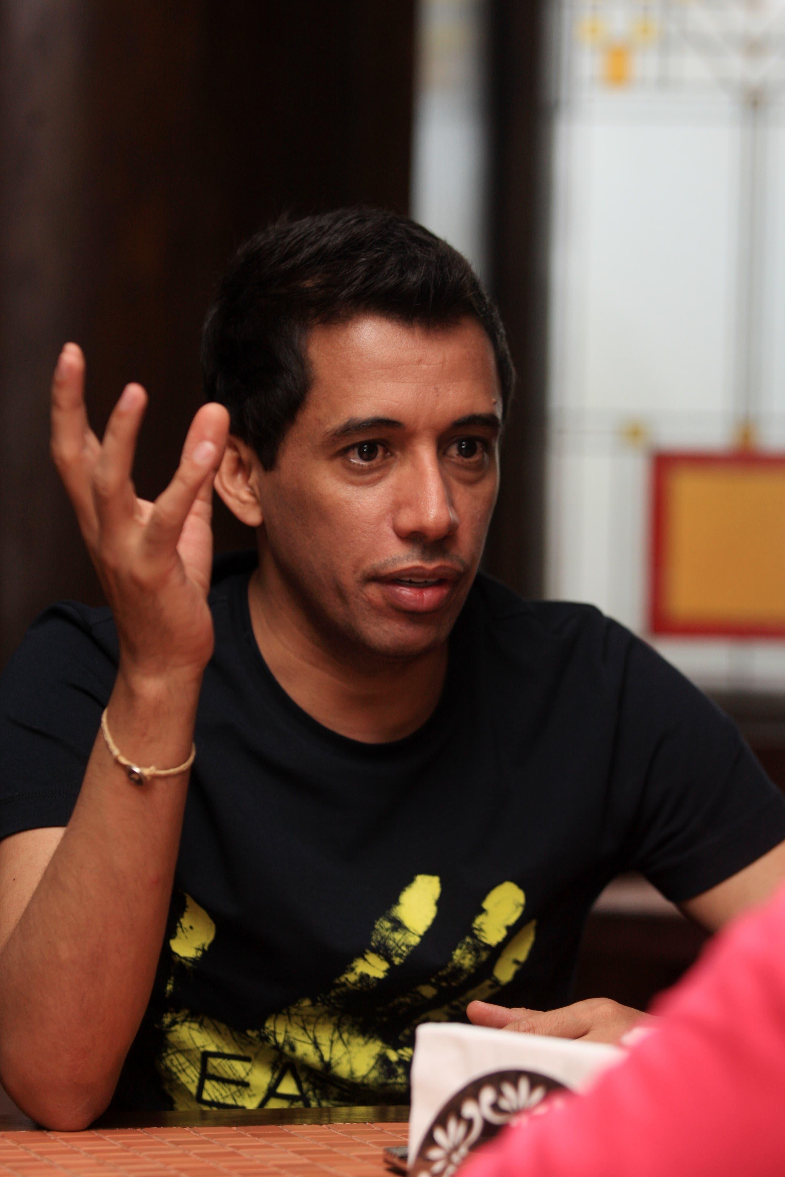 Battal Algoos, presenter of 'Fi al-Marma' (In the Goal)