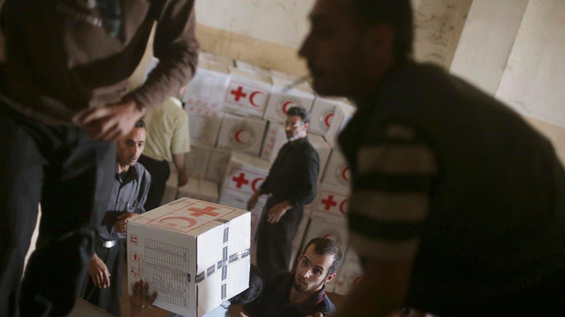 اغاثة مساعدات على سوريا
