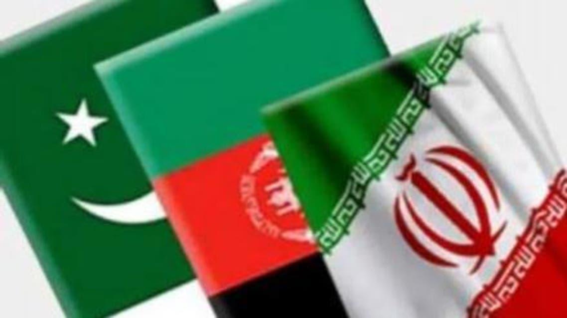 پرچم های ایران افغانستان و پاکستان