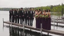 Wedding party falls into Minnesota lake when dock collapses