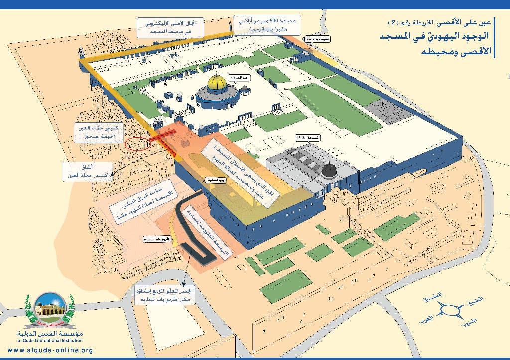 خريطة الحرم القدسي في القدس