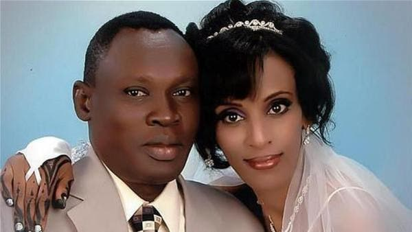 Meriam Ibrahim married a Christian man from southern Sudan in a church ceremony in 2011. (Photo courtesy of The Telegraph)