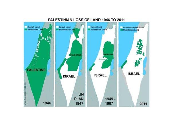 خريطة فلسطين التاريخية منذ عام 1946