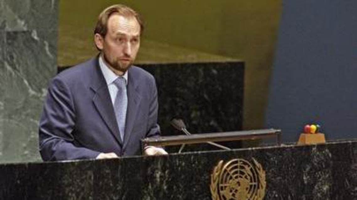 Prince Zeid in late April said he would resign as ambassador to the U.N.