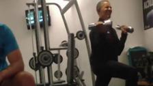 Video: Obama secretly filmed working out in gym