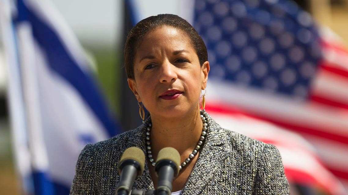 U.S. National Security Adviser Susan Rice addresses the media during her visit to the Israeli Air Force (IAF) Palmachim base, south of Tel Aviv May 9, 2014.  (Reuters)