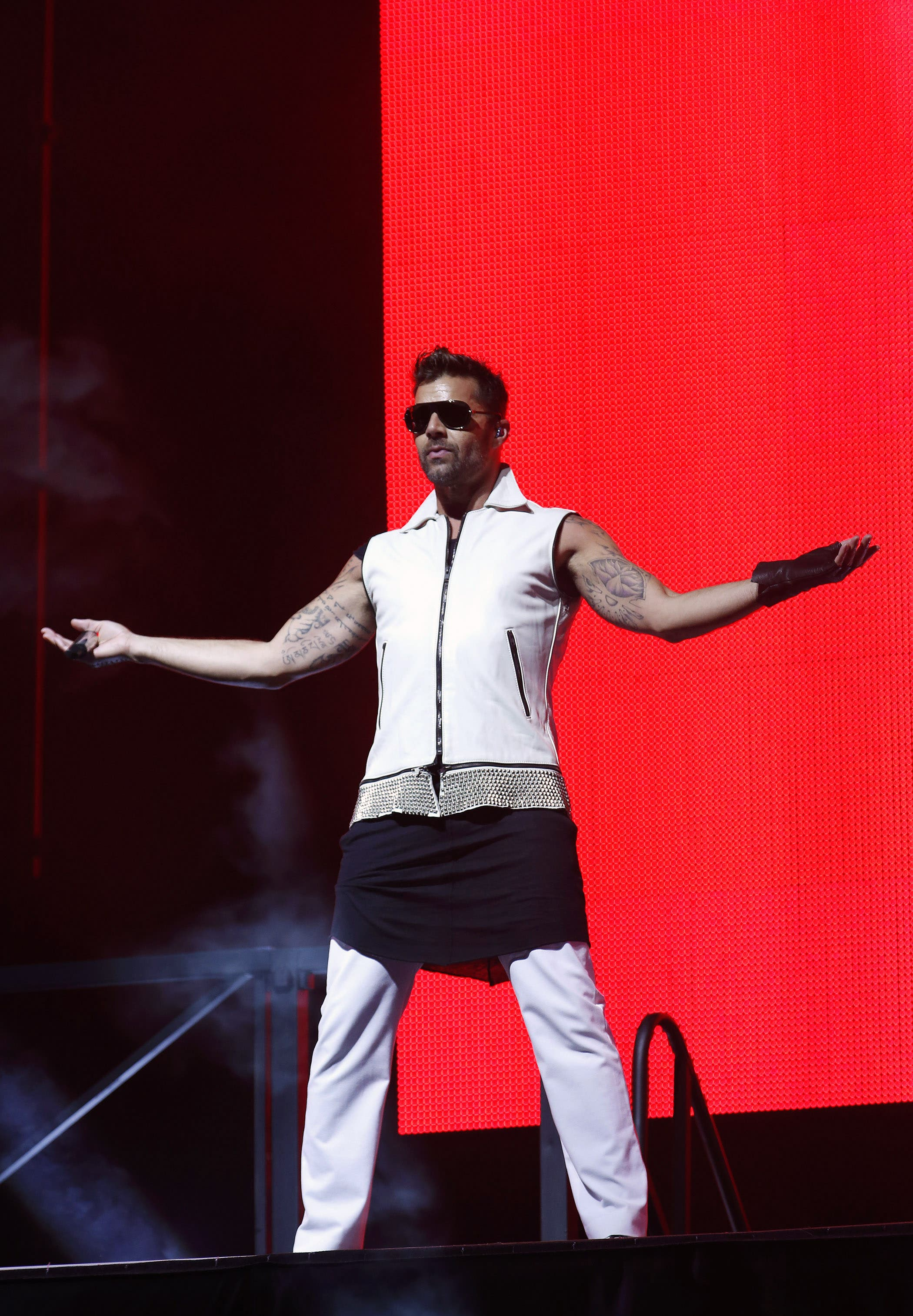 Ricky Martin performs in Morocco