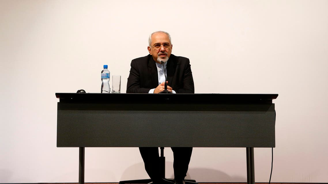 Iran's Foreign Minister Mohammad Javad Zarif speaks to the media during a news conference following the Iran talks in Geneva Nov. 24, 2013. (Reuters)