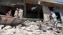 حوثیوں کی پیش قدمی روکنے کے لئے یمنی طیاروں کی بمباری