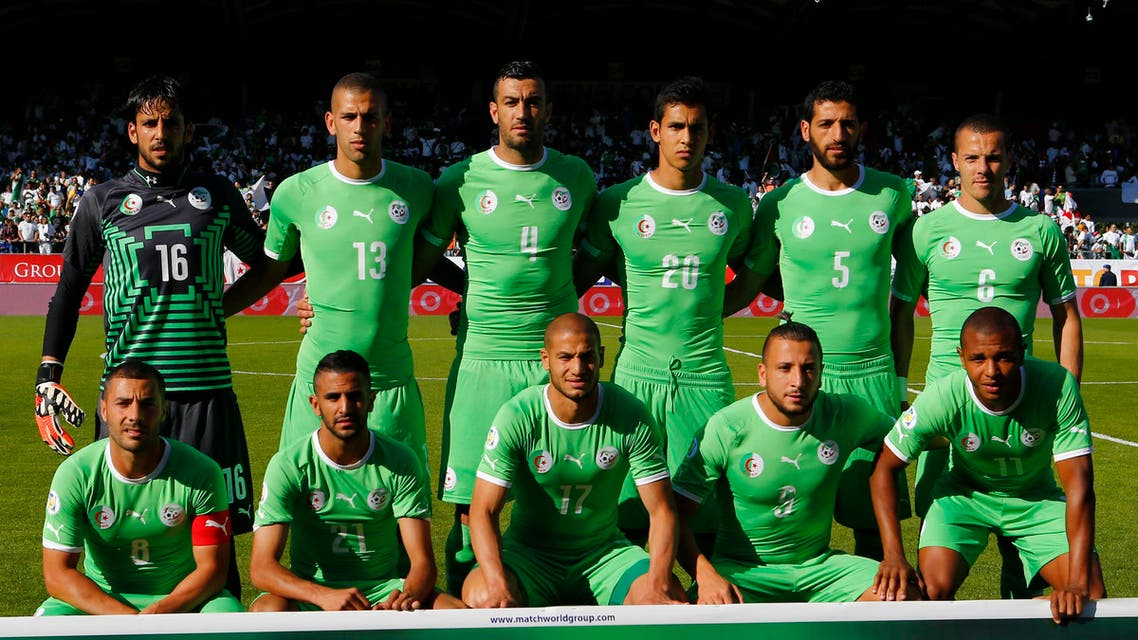 Algeria's's national soccer team poses before a friendly match against Armenia in Sion May 31, 2014. (Reuters)