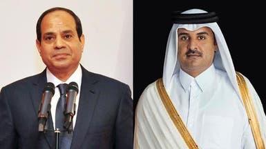 أول اتصال بين السيسي وأمير قطر منذ أحكام قضية التخابر