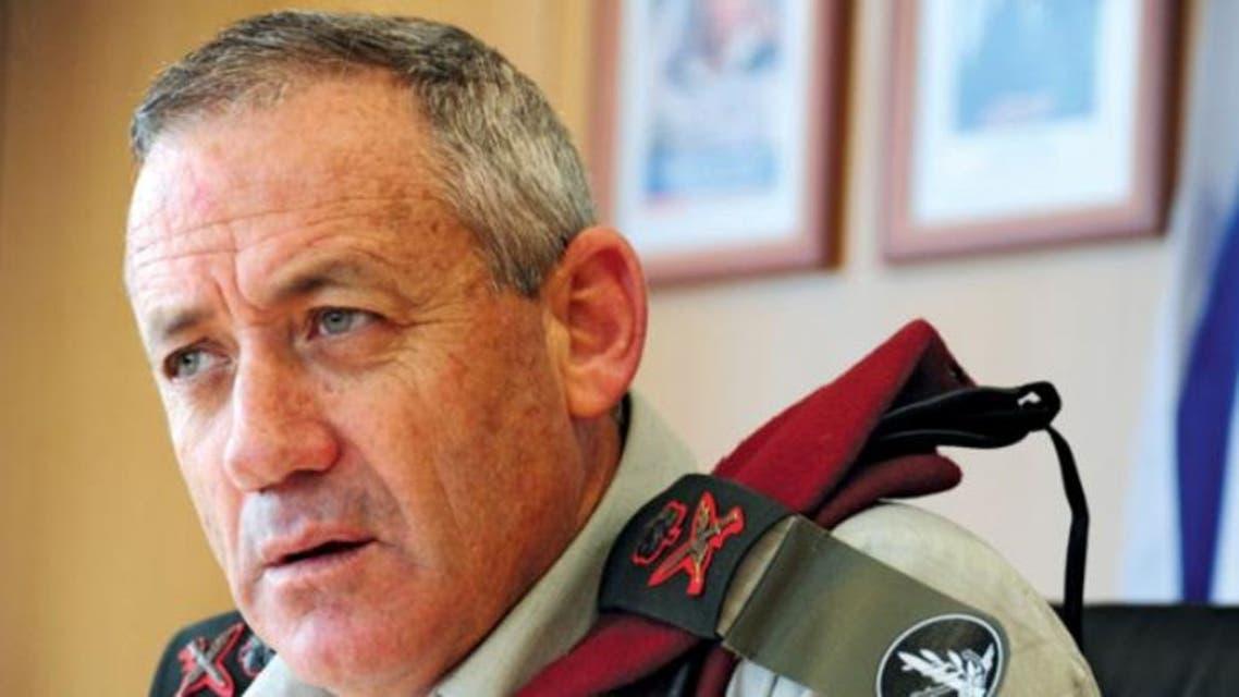 رئيس الأركان الإسرائيلي الجنرال غانتس