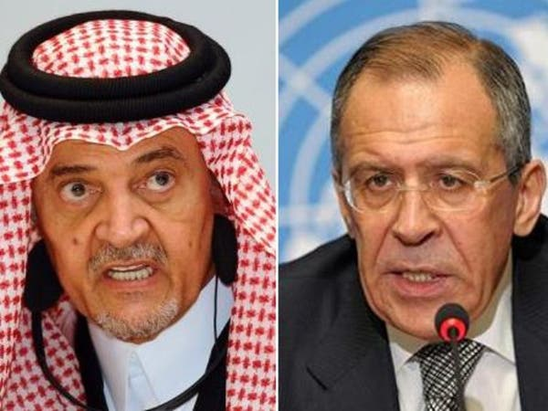 سعود الفيصل يبحث مع لافروف الأزمة السورية