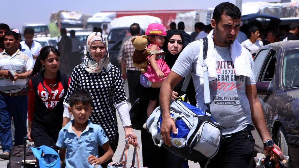Mosul flee AFP