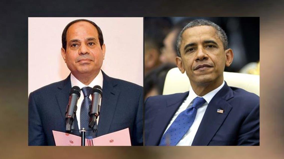 أوباما وعبد الفتاح السيسي
