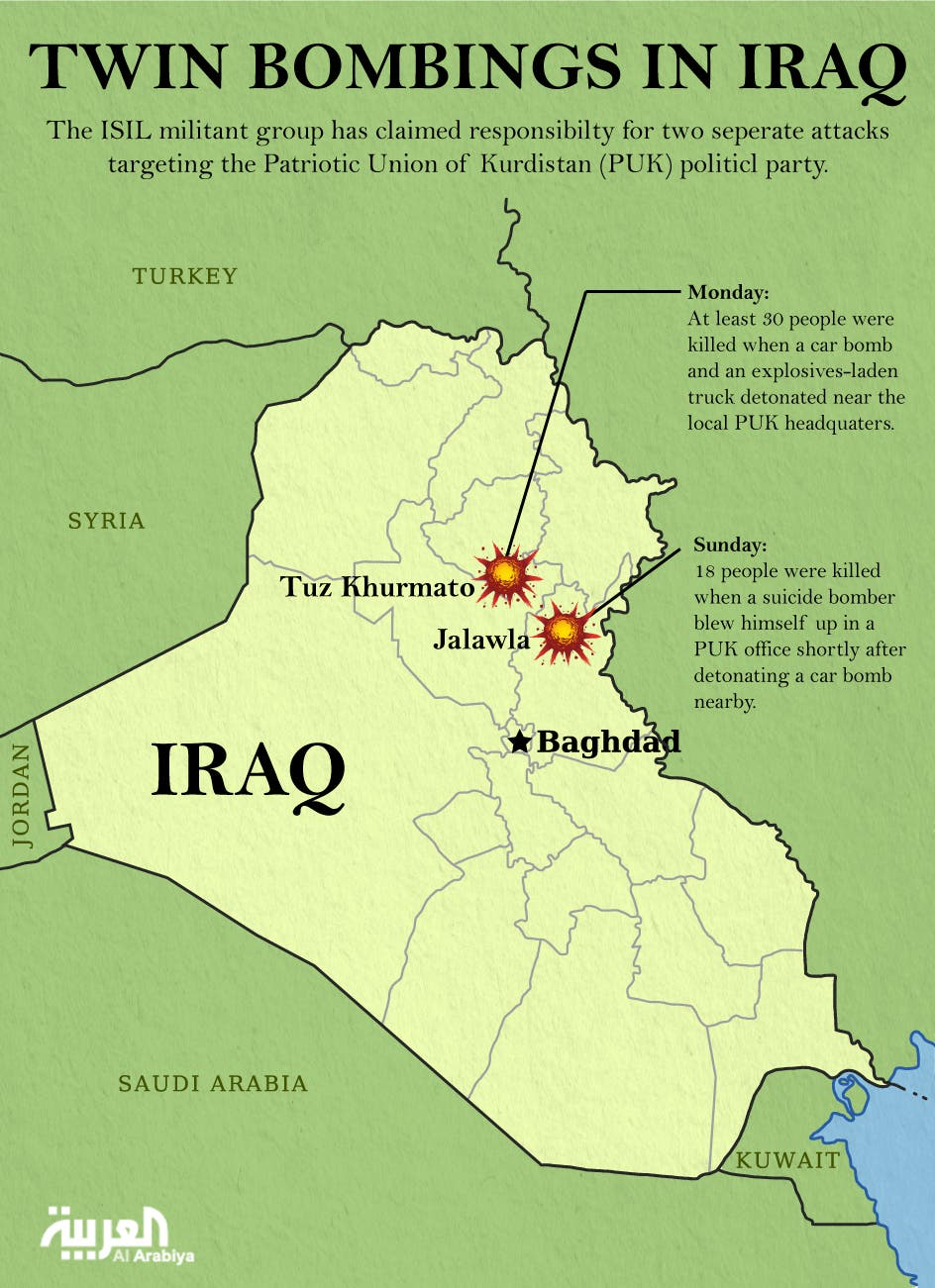 Infographic: Twin bombings in Iraq