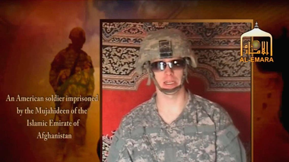 Undated image from video footage taken from a Taliban-affiliated website shows a man who says he is Private First Class Bowe R. Bergdahl,