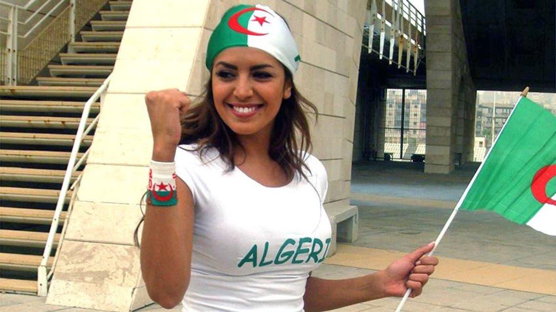 أمل بوشوشة علم الجزائر مونديال