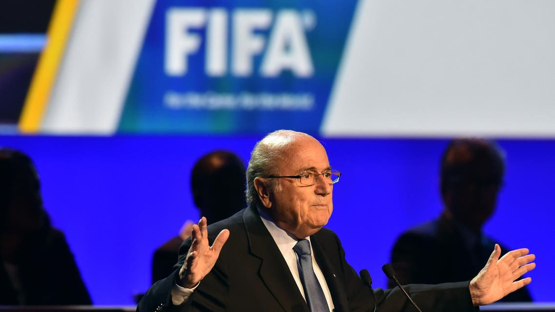 President of FIFA Sepp Blatter delivers a speech during the 64th FIFA Congress in Rio de Janeiro on June 11, 2014, on the eve of the opening game of the FIFA World Cup 2014 in Brazil. AFP