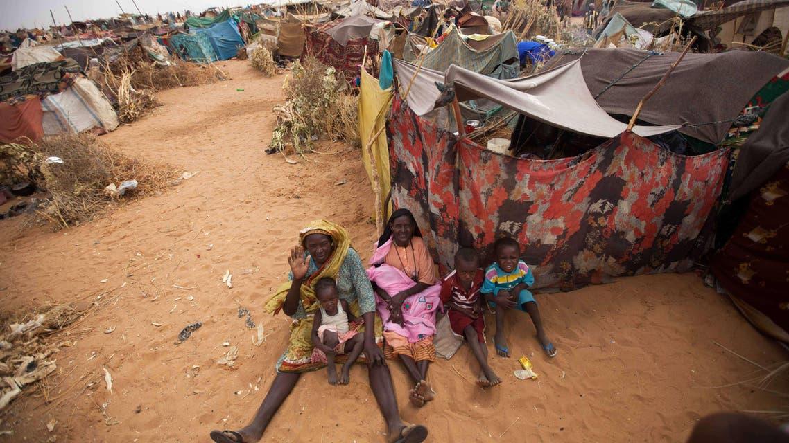 Zam Zam refugee camp in Darfur