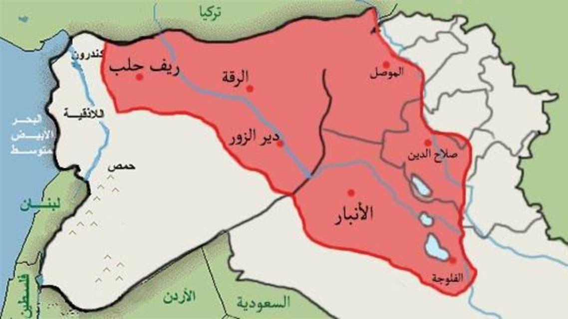 خريطة الحدود بين العراق وسويرا داعش