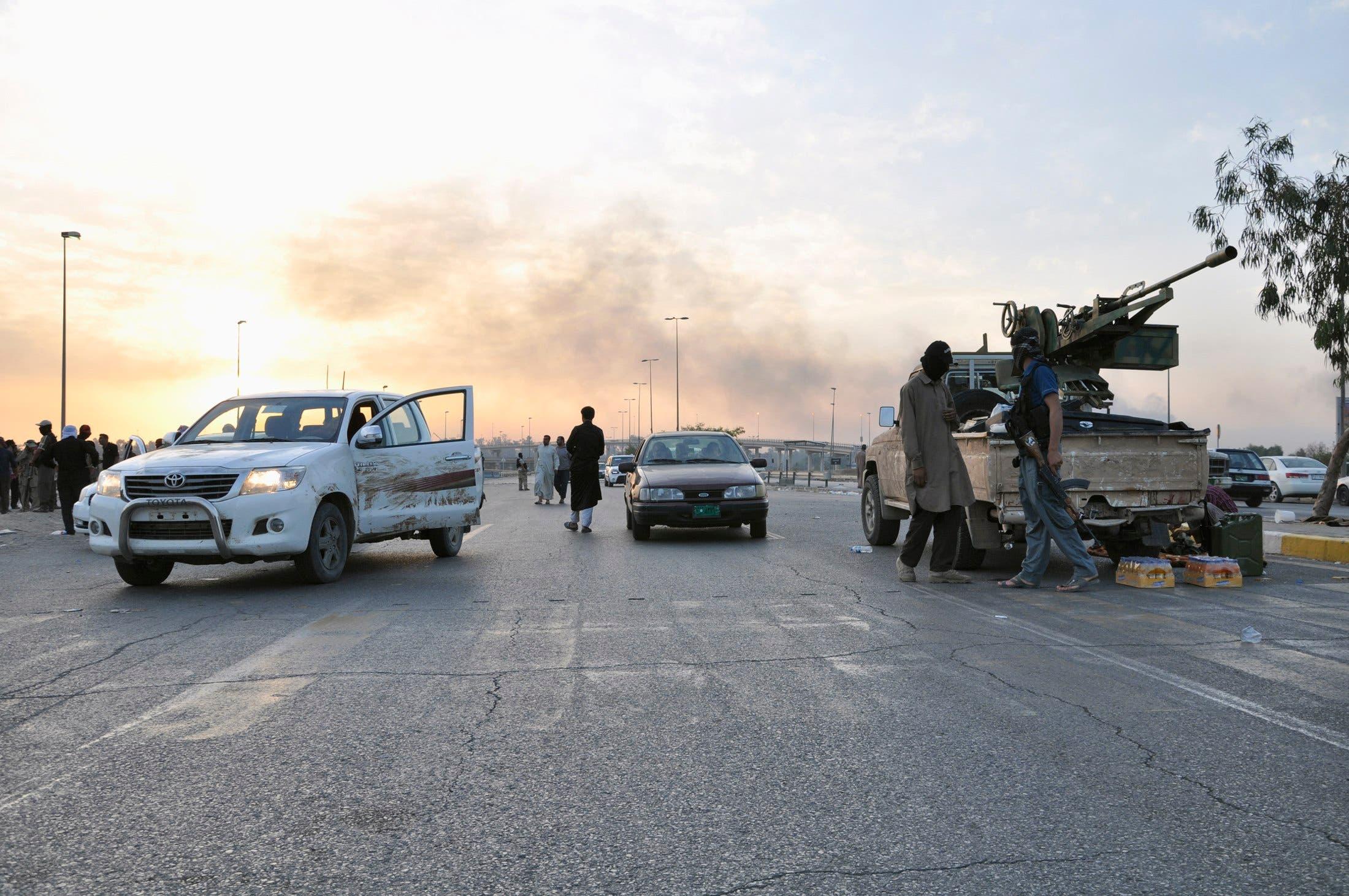 عناصر من مقاتلي داعش في الموصل