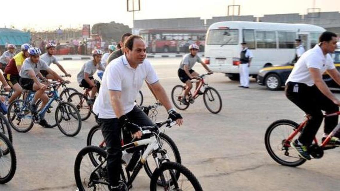Sisi biking (Al Arabiya)